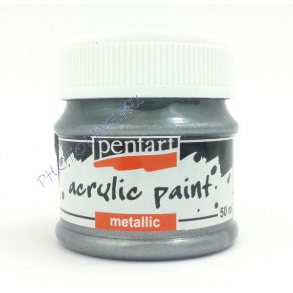 Metál hobbi és makettező akrilfesték 50 ml, rokokóezüst