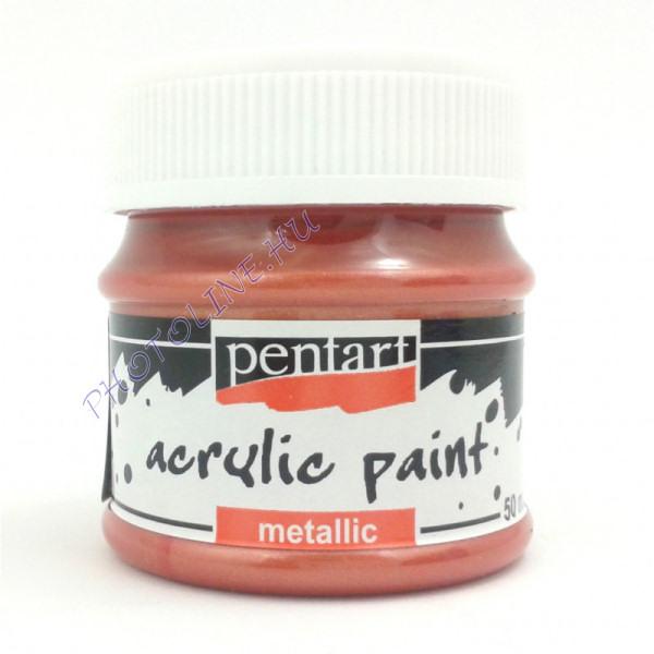 Metál hobbi és makettező akrilfesték 50 ml, vörösréz