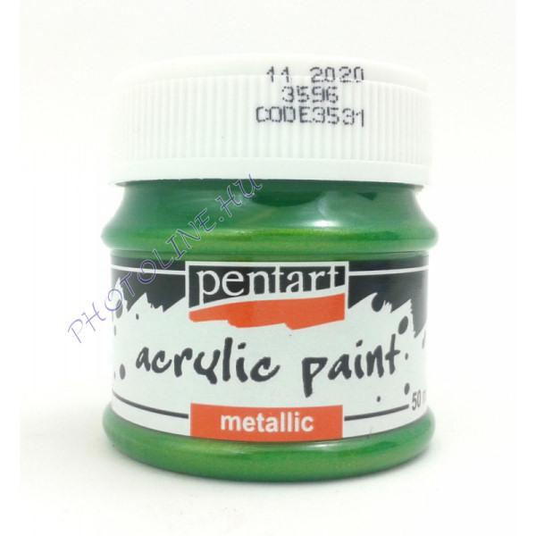 Metál hobbi és makettező akrilfesték 50 ml, zöld