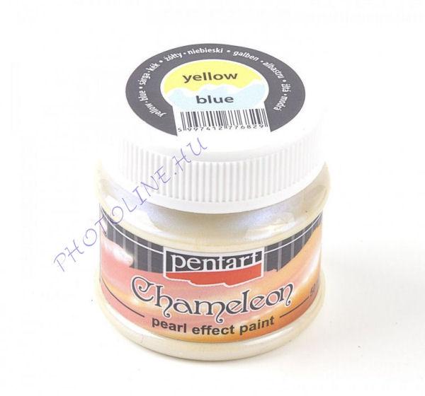 Kaméleon Gyöngyház Akrilfesték 50 ml, sárga-kék