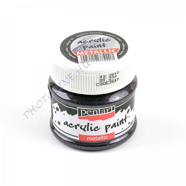 Csillogó metál akrilfesték 50 ml, csillogó-lila