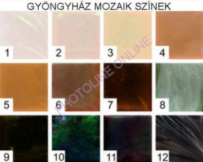 Mozaik csomagok GYÖNGYHÁZ, 1x1 CM, 12.