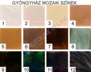 Mozaik csomagok GYÖNGYHÁZ, 1x1 CM, 8.