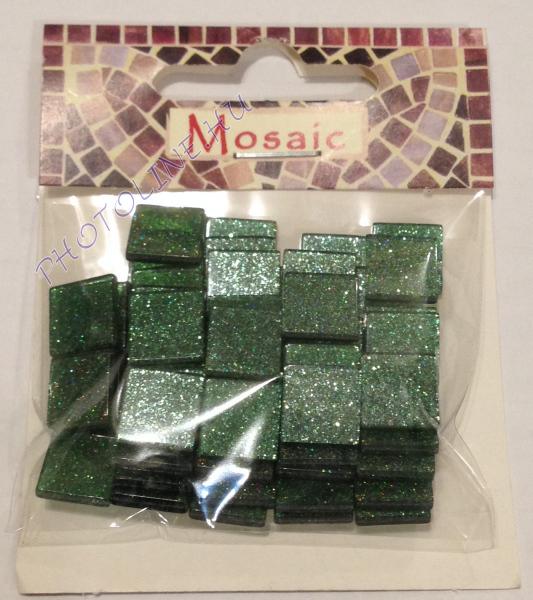 Mozaik csomagok CSILLÁMOS, 1x1 CM, 13. szürkés-zöld