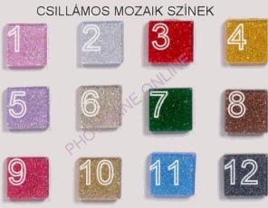 Mozaik csomagok CSILLÁMOS, 1x1 CM, 2. fehér-ezüst, halványkékes