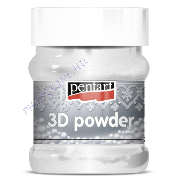 3D szóró por díszítéshez, durva, 230 ml
