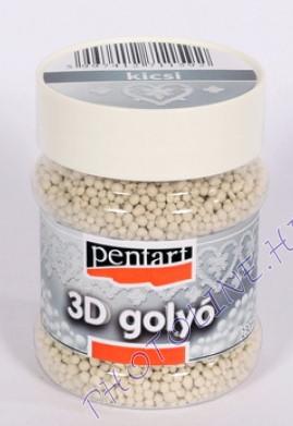 3D Golyók, díszítéshez, kis átmérő, 230 ml