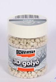 3D Golyók, díszítéshez, nagy átmérő, 230 ml