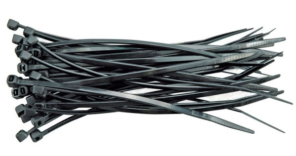 Gyorskötöző, kábelkötegelő fekete 4.8 x 400 mm, 100 db (8856166)