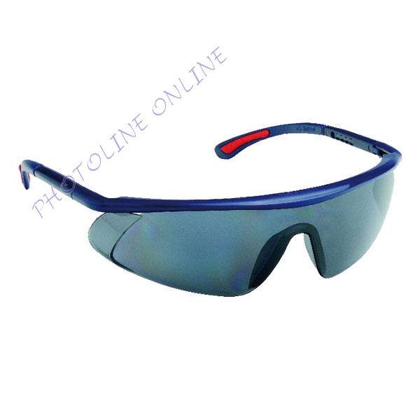 Szemüveg füstszínű AF, AS, UV, állítható szárú, páramentes, karcálló, PC látómezővel (524051)