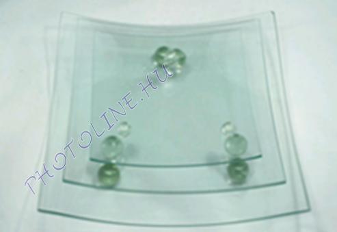 Talpas üveglap négyzet, 27.5x27.5 cm