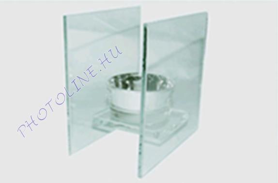 Mécsestartó, téglalap, egy égős 10x6.5x10 cm