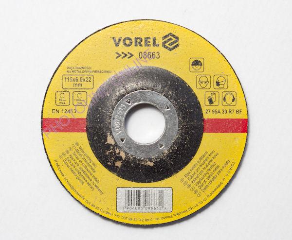 Csiszolókorong acélhoz, 115 x 6,0 x 22 mm (8808700)