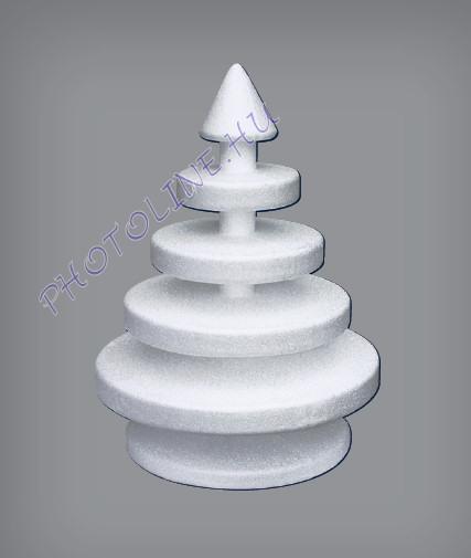 Hungarocell Modern karácsonyfa, 25 x 18,5 cm polisztirol