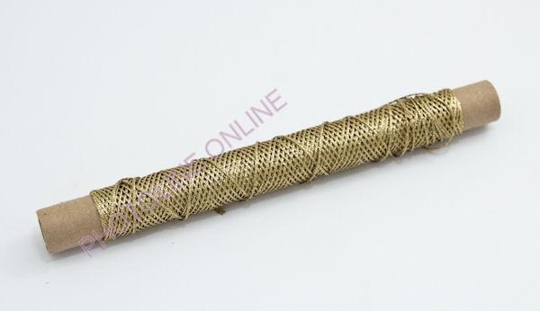 Kötöző zsinór dísz, 1,25 mm, arany szín, fémszálas