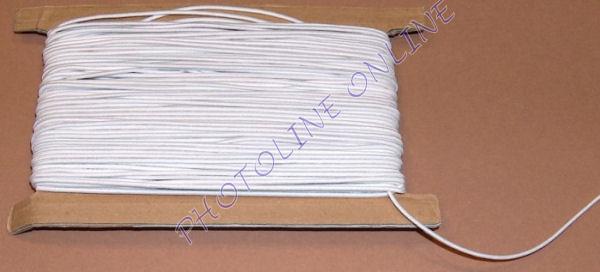 Gumizsinór, 3 mm, 50m/tekercs, FEHÉR