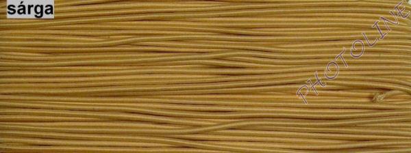 Gumizsinór, 3 mm, 50m/tekercs, SÁRGA