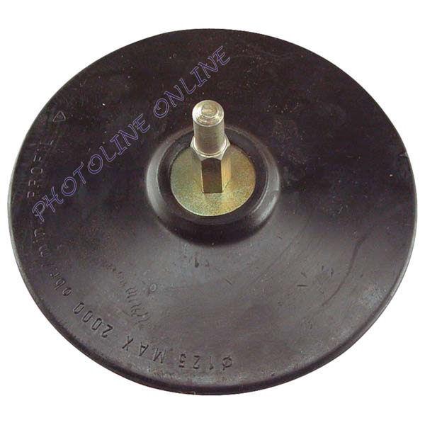 Gumitányér, fúrógéphez tépőzáras 125mm (108400)