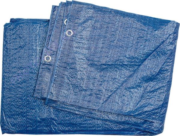 Takarófólia 2x3 M vízálló, fűzőhellyel, 57 gr/nm kék