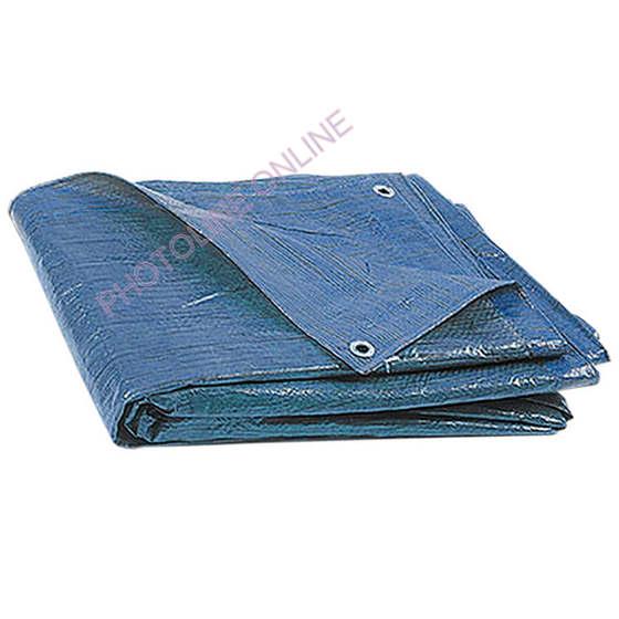 Ponyva (takaró) 4x5 M vízálló, fűzőhellyel, 75 gr/nm kék