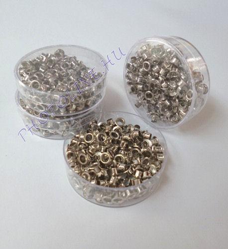 Ringli horganyzott fém, 5 mm, 250 db/készlet