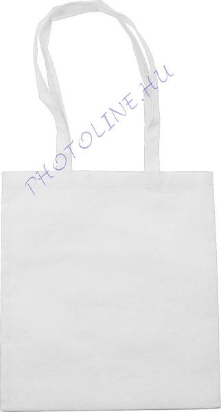 Bevásárló táska 38x42 cm, poliészter szőttes, fehér