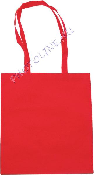 Bevásárló táska 38x42 cm, poliészter szőttes, piros