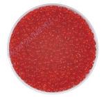 Kásagyöngy átlátszó (2.6 mm) 20 g piros