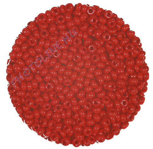 Kásagyöngy (2.6 mm) 20 g kárminpiros