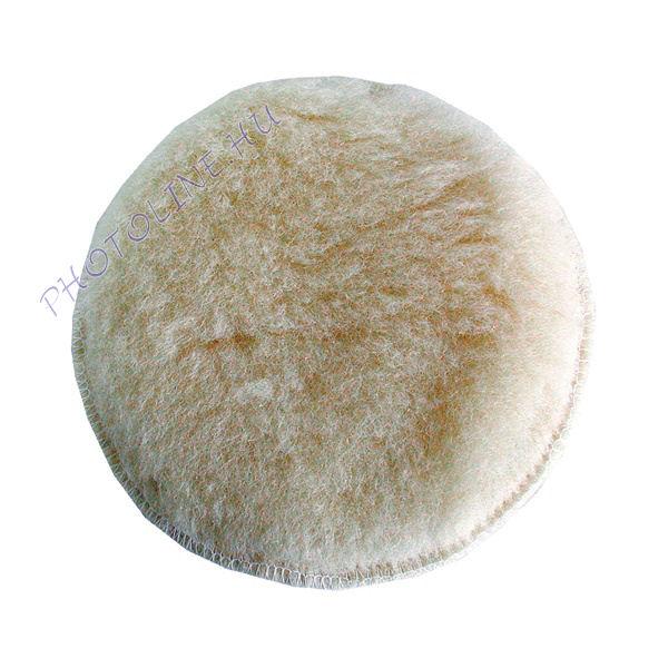 Polír korong, fehér báránybőr, 125 mm