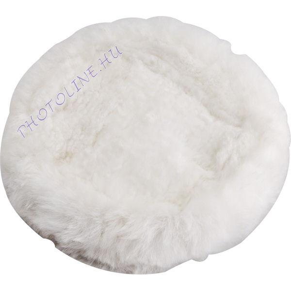 Polír korong, fehér báránybőr, 150 mm