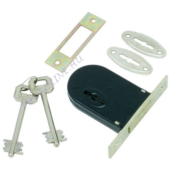 Reteszzár, bevéső, duplatollú, 2 kulccsal