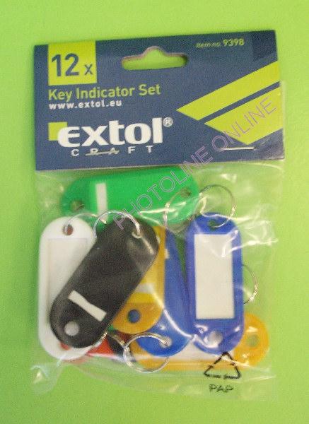 Kulcs címke vegyes színű 12X (9398)