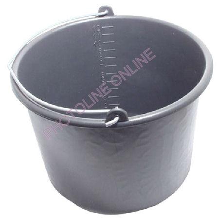 Habarcs vödör 12 liter, fekete műanyag
