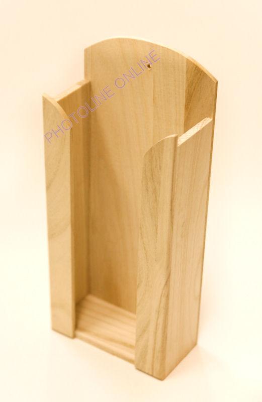 Papírzsebkendő tartó PZS tartó natúr fa, hosszú