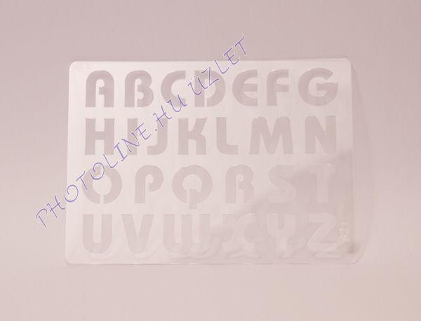 Rugalmas dekorációs Sablon - Stencil  - ABC NAGYBETŰS, S21