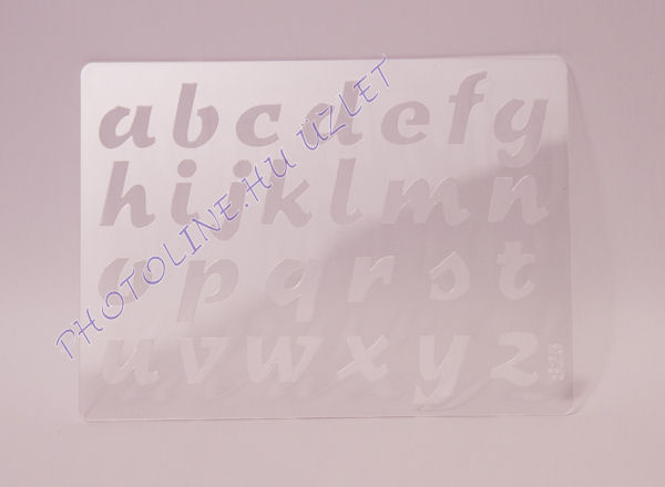 Rugalmas dekorációs Sablon - Stencil  - abc kisbetűs normál, S22