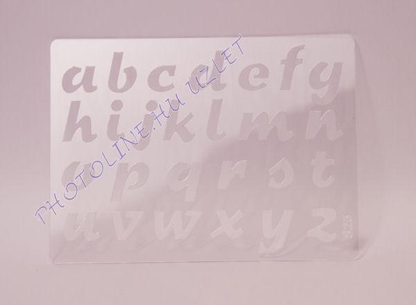 Rugalmas dekorációs Sablon - Stencil  - abc kisbetűs dőlt, S25