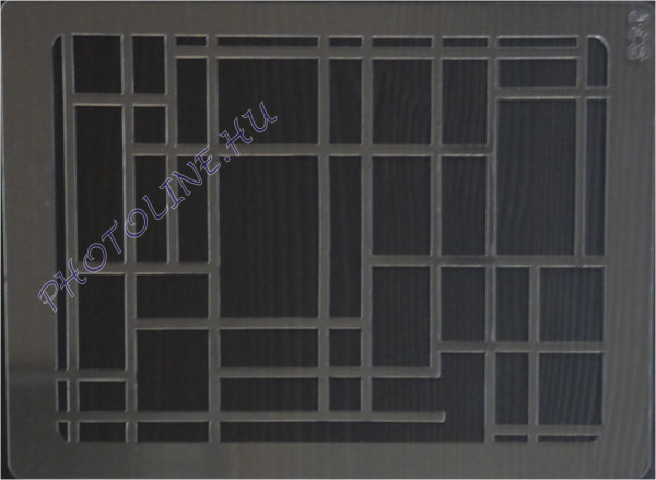 Rugalmas dekorációs Sablon - Stencil S36, téglalapok
