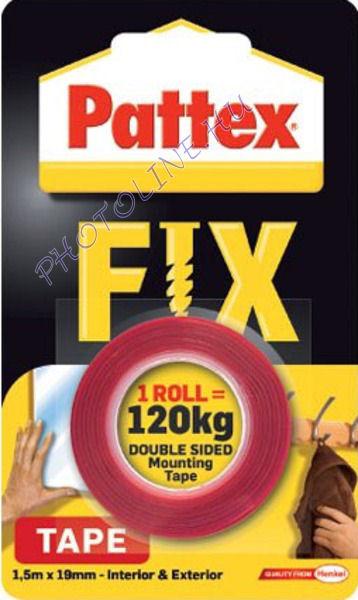 Kétoldalas Öntapadó PATTEX montázsszalag, 120KG terhelés