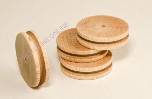 Bükk-kerék kötélhelyes 40x10 mm, 4 mm furat, 1 pár