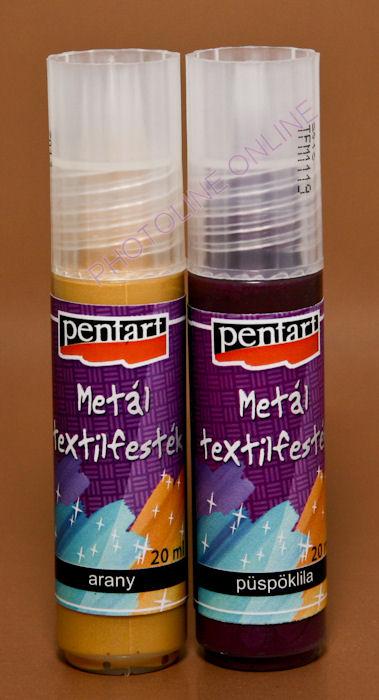 Metál textilfesték 20 ml, arany
