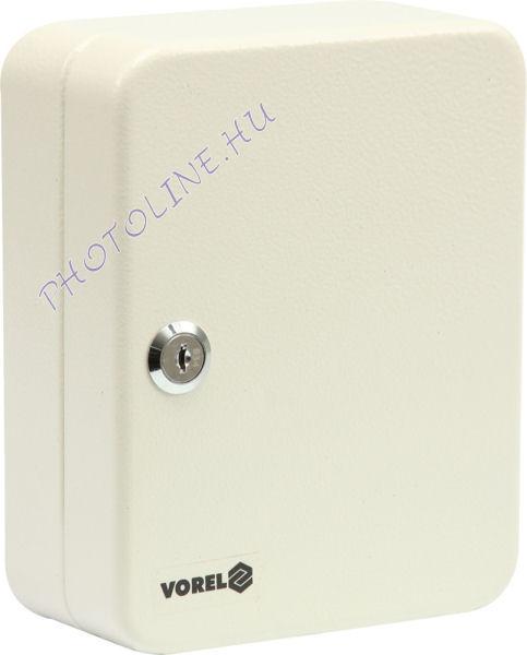 Kulcstartó szekrény zárható, szerelékkel, fém, 48 hely (20cm)