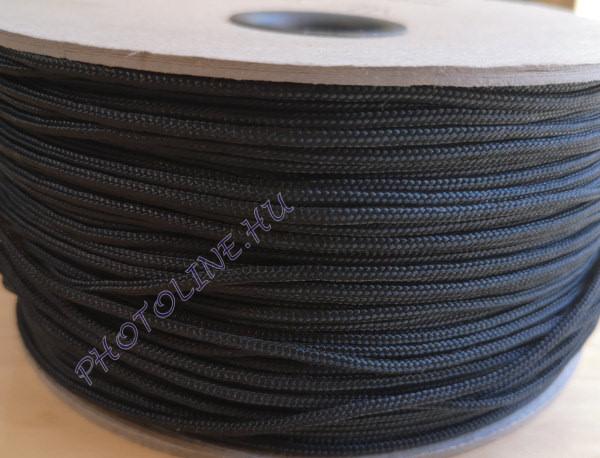 PP fonatolt kötél 2 mm, fekete