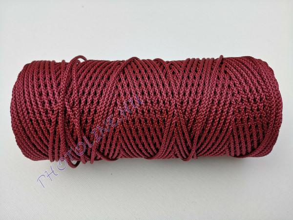 Kötöző zsinór, 3 mm erős, vörös/sötétpiros szín