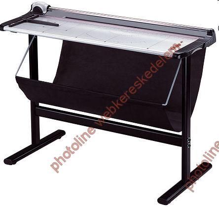 125 cm Vágógép, asztal+papírgyűjtő állvánnyal