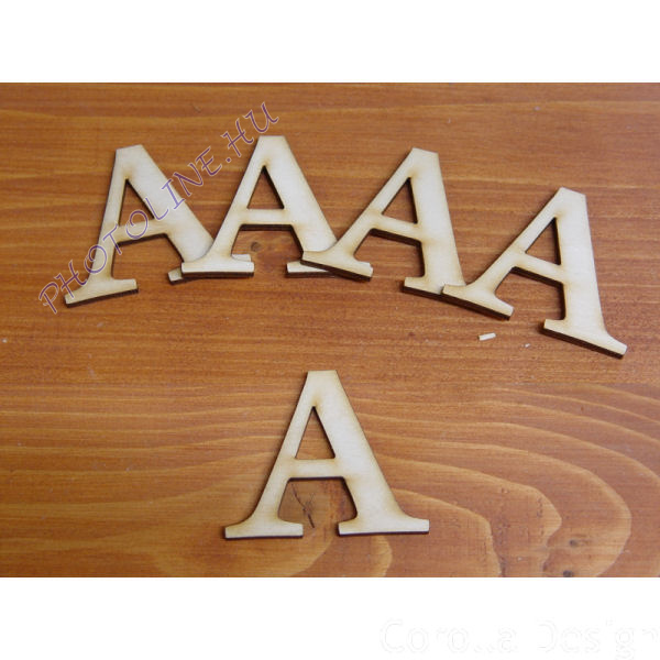 Fa betűk ABC 50 mm, darabra, A betű