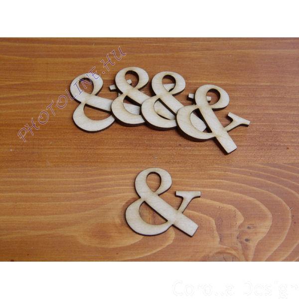 Fa betűk ABC 50 mm, darabra, & JEL