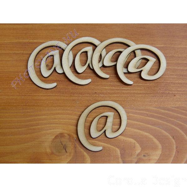 Fa betűk ABC 50 mm, darabra, @ JEL