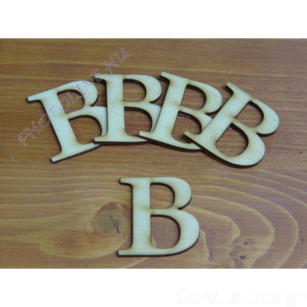 Fa betűk ABC 50 mm, darabra, B betű